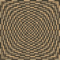 Distorted brown checkered background abstract pattern of color Stock Image