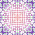 Distorted circles abstract colorful dotted circular texture background Royalty Free Stock Images