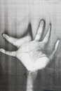 Distorted hand palm Stock Photography