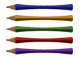 Distorted pencils Stock Photography