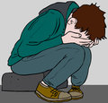 depressed teen Royalty Free Stock Photo