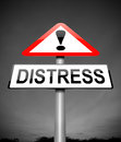 Distress concept illustration depicting a sign with a Royalty Free Stock Photography