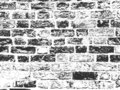 Distress old brick wall texture. Black and white grunge background. Vector illustration Royalty Free Stock Photo