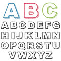 Distressed alphabet
