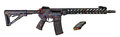 Distressed AR15 / M16 With Collapsible Stock, 16` Barrel