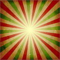 Distressed green red light burst background Royalty Free Stock Photo