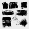 Distressed ink stamps vector a collection of texture paint stains vector illustration Royalty Free Stock Photo