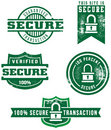 Distressed Web Secure Badges Stock Images