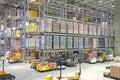 Distribution warehouse big center building interior Royalty Free Stock Photo