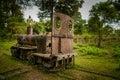 Disused don khon railway the det narrow gauge portage champasak province southern laos Royalty Free Stock Photos
