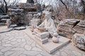 Ditan park statue in temple of earth also called in beijing china Royalty Free Stock Image