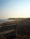 Ditch Plains Beach Atlantic Ocean Montauk New York USA in The Ha Royalty Free Stock Photo