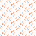 Ditsy Abstract Flower Blooms in Coral Blue. Tiny Dotty Floral Seamless Repeating Pattern
