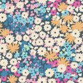Ditsy popcorn floral seamless retro background Stock Image
