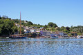 Dittisham devon village on the river dart Royalty Free Stock Images