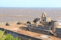 Diu fort gujarat india ancient facing the sea with cannons pointing seawards Stock Photos