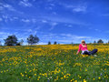 Divcibare,spring and girl Royalty Free Stock Photography