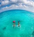 Dive couple Stock Photo