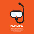 Dive mask and tube for diving vector illustration Royalty Free Stock Photos