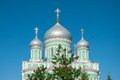 Diveevo detail of trinity cathedral in holy trinity monastery in Royalty Free Stock Image