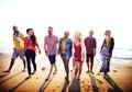 Diverse Beach Summer Friends Fun Bonding Concept Royalty Free Stock Photo