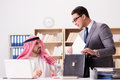 The diverse business concept with arab businessman