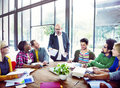 Diverse Casual Business People in a Meeting Royalty Free Stock Photo