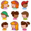 Diverse children faces