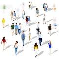 Diverse diversity ethnic ethnicity togetherness variation crowd concept Stock Image