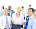 Diverse group of business people smiling Stock Images