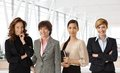 Diverse group of businesswomen at office different ethnicity and age Royalty Free Stock Photos