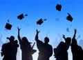 Diverse International Students Celebrating Graduation Royalty Free Stock Photo