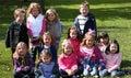 Diverse kids outside Royalty Free Stock Photo
