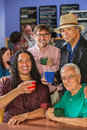Diverse men in coffee house group of handsome Stock Photography