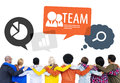 Diverse multiethnic colorful people supporting each other Stock Photography