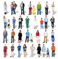 Diverse multiethnic group of people with professional occupation Stock Photos