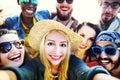 Diverse People Beach Summer Fr...