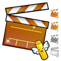 Diverse styles of slate and movie sets household items vector i icon series Stock Images