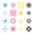 Diverse styles of square back symbol sets original pattern and series Royalty Free Stock Photography