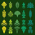 Diverse styles of square back symbol sets original pattern and series Royalty Free Stock Photos
