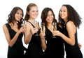 Diverse Teenagers with Wineglasses Royalty Free Stock Photo
