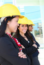 Diverse Woman Construction Team Stock Photo