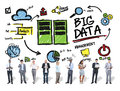Diversity Business People Big Data Corporate Digital Concept Royalty Free Stock Photo