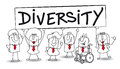 Diversity different ethnic people are in the office is essential for the development of your company Royalty Free Stock Image