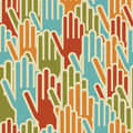 Diversity hands up seamless pattern Stock Images