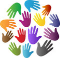 Diversity hands a vector drawing represents design Royalty Free Stock Photo