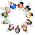 Diversity innocence children friendship aspiration concept Royalty Free Stock Images