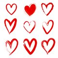 Diversity of Love. Hand Drawn Love Heart Icons