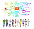 Diversity People Social Networking Internet E-Mail Concept Royalty Free Stock Photo