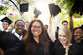 Diversity Students Graduation Success Celebration Concept Royalty Free Stock Photo